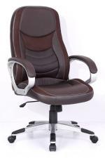 T-9910 Бюрократ T-9910/Black (Кресло руководителя черный искусственная кожа (пластик серебристый)