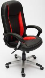 TetChair Кресло руководителя BRINDISI ST экокожа черная, вставки синие